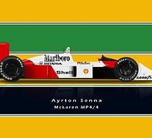Ayrton Senna - McLaren MP4/4 with Helmet colours by JageOwen
