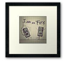 Eraser on FIRE Framed Print