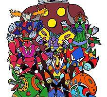Mega Man X 2 Bosses by cesspool