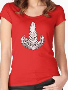 Black outlined Rosetta Women's Fitted Scoop T-Shirt