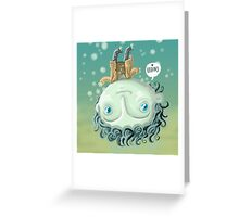 cute zombie in the water Greeting Card