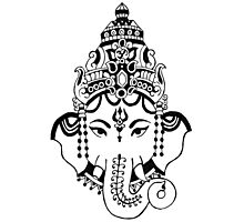 Ganesha Face Photographic Print