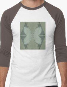 Flowers, checker Men's Baseball ¾ T-Shirt