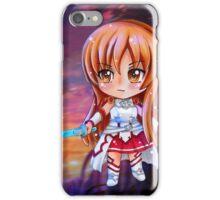 Asuna Sword Art Online (SAO) Chibi Background iPhone Case/Skin