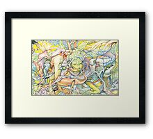 Compositions insect Framed Print
