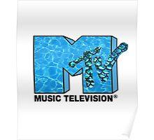 MTV Blue Poster