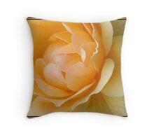 Yellow Rose Petals (1084 Views) Throw Pillow