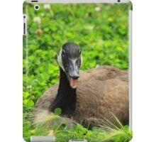 Canada Goose Sitting on Plants iPad Case/Skin