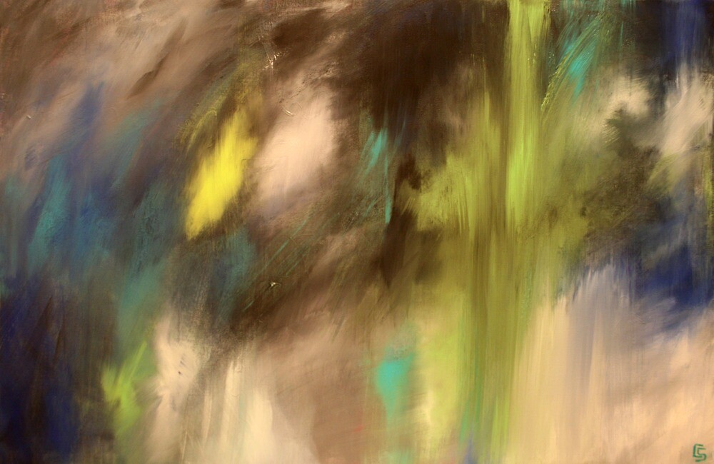 Prestige. 36 x 24. Abstract Painting.  by csoccio100