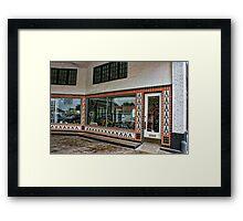 Grimes Garage in Hillsboro, Texas Framed Print