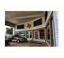 Grimes Garage in Hillsboro, Texas Art Print