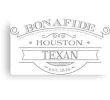 Bonafide Houston Texan Canvas Print