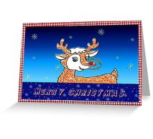 Merry Christmas - Rudolph Greeting Card
