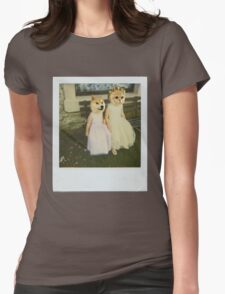 Polaroid doge and cat meme Womens Fitted T-Shirt
