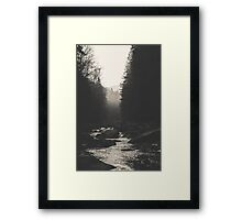 Morning river Framed Print