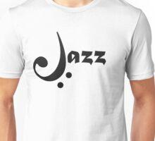 Bass Clef Jazz Design Unisex T-Shirt