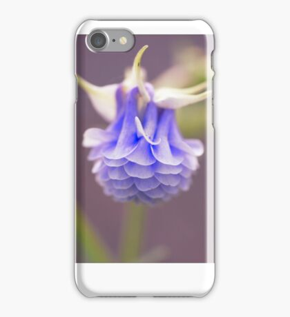 Aquilegia, Tower light blue Grannies bonnet iPhone Case/Skin