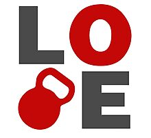 Love Kettlebell Workout Gym Exercise Photographic Print