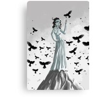 mother of crows Canvas Print