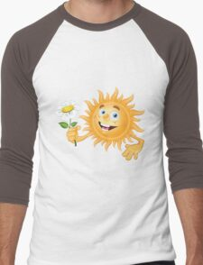 Funny sun Men's Baseball ¾ T-Shirt