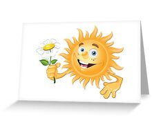 Funny sun Greeting Card