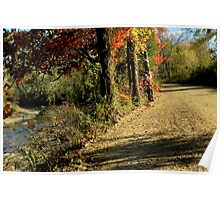 Autumn River Road Poster
