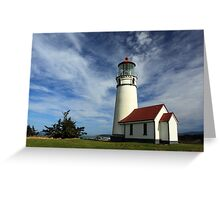 The Lighthouse At Cape Blanco Greeting Card