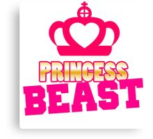 Princess Beast Workout Gym Exercise Canvas Print