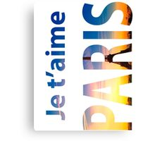 Je T'aime PARIS. Typography Canvas Print