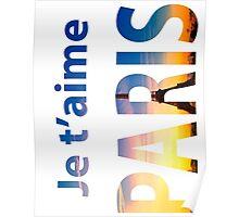 Je T'aime PARIS. Typography Poster