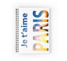 Je T'aime PARIS. Typography Spiral Notebook