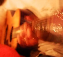 Guitar by Candlelight by nadinecreates