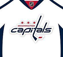Washington Capitals Away Jersey by Russ Jericho
