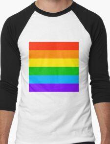 Gay Rainbow Pride Men's Baseball ¾ T-Shirt