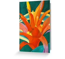 Bromeliad Glow Greeting Card