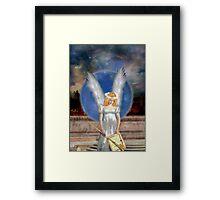 The Angel Of Jubiliation Rests Framed Print