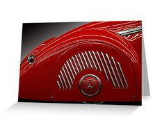 Red Mercedes Greeting Card