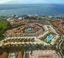 Tenerife, resort in Bird eye by Janone