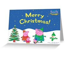 Peppa Pig Christmas Card Greeting Card