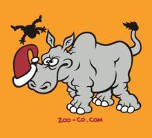 Santa Claus Meets a Rhino by Zoo-co