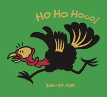 Christmas Turkey Running Away by Zoo-co