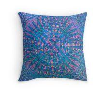 Mandala Aqua Throw Pillow