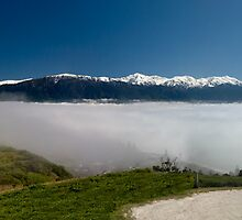 Panoramic Kaikoura in Fog by Michael Treloar