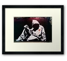 Hoodie by Banksy Framed Print