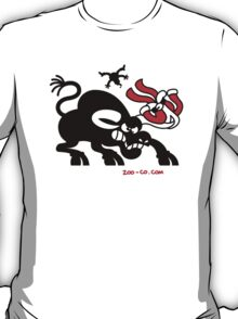 Santa Claus Meets a Bull T-Shirt