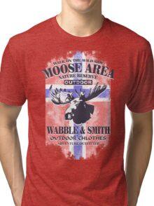 Moose - Norway Flag - Vintage Look Tri-blend T-Shirt