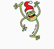 Merry Christmas Frog Womens Fitted T-Shirt