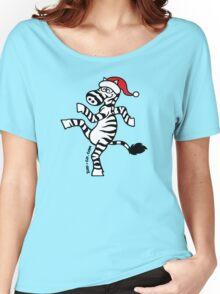 Christmas Zebra Women's Relaxed Fit T-Shirt