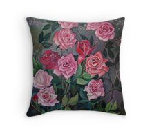 Rose Tangle Throw Pillow