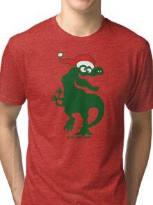 Christmas Tyrannosaurus Rex Tri-blend T-Shirt